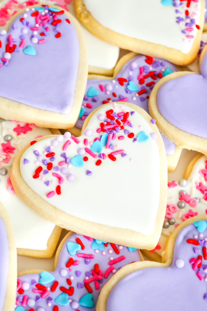 Easy Sprinkle Heart Sugar Cookies