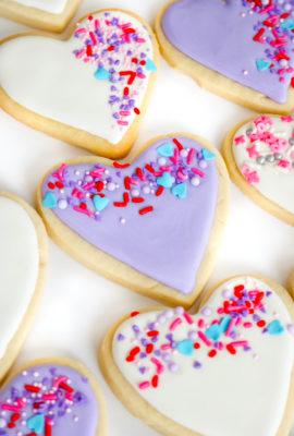 Easy Sprinkle Heart Sugar Cookies