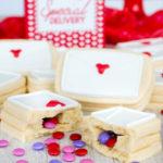 Surprise Inside Love Letter Sugar Cookies