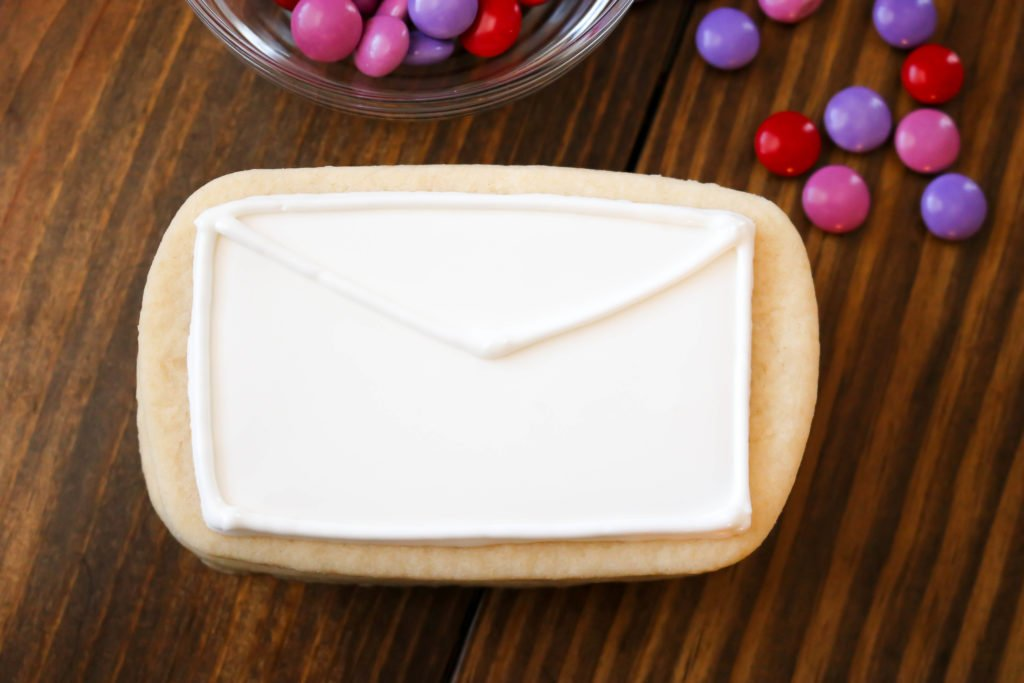 Surprise Inside Love Letter Sugar Cookie Outline