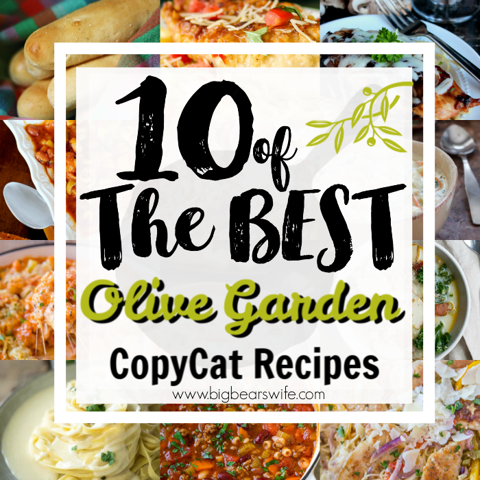 10 of the BEST Olive Garden Copy Cat Recipes - It took years for our city to get an Olive Garden and I spent a lot of those years trying to recreate some of my favorite Olive Garden dishes at home so that we didn't have to drive 2 hours to have our favorites. Now I've found even more copycat recipes for Olive Garden on some of my favorite blogs! Here are 10 of the BEST Olive Garden Copy Cat Recipes I've found!