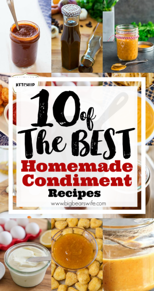 10 of the best Homemade Condiments - If you don't want to stock your fridge or pantry with store bought condiments or if you just want to experiment with making your own at home this post is for you! I've found 10 of the best Homemade Condiments from some of the best bloggers out there.
