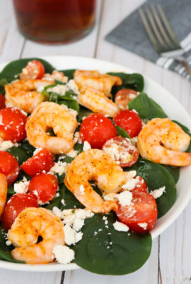 Shrimp Feta and Tomato Salad