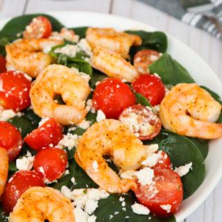 Shrimp Feta and Tomato Salad