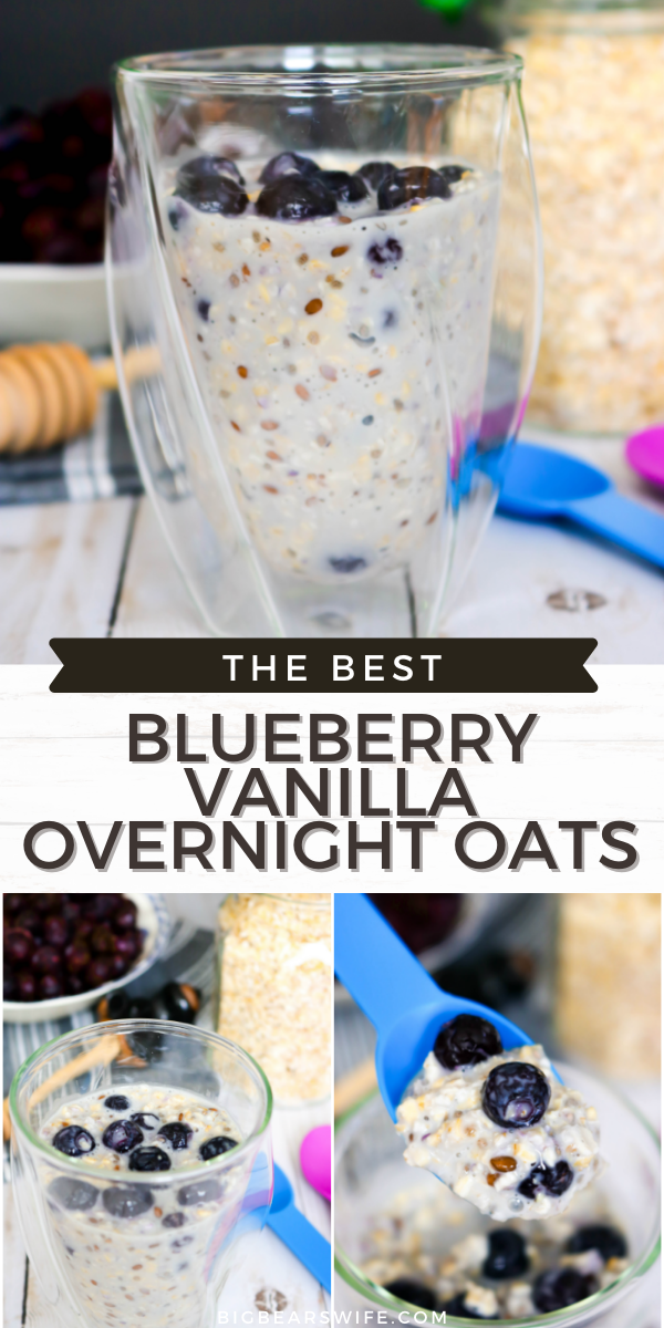 Looking for an easy breakfast or brunch idea? These overnight oats take about 5 minute to toss together and they're ready and waiting for you in the fridge when you wake up the next morning! Need variety? Good! You'll find Overnight Oats 3 Ways here! via @bigbearswife