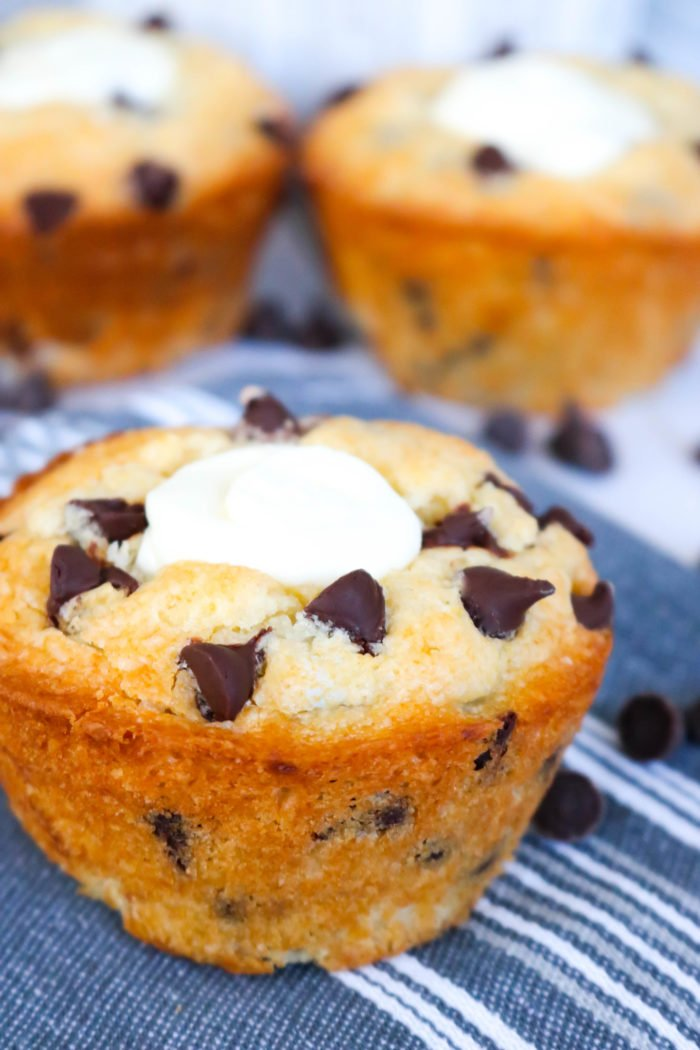 Chocolate Chip Cream Cheese Stuffed Muffins Recipe