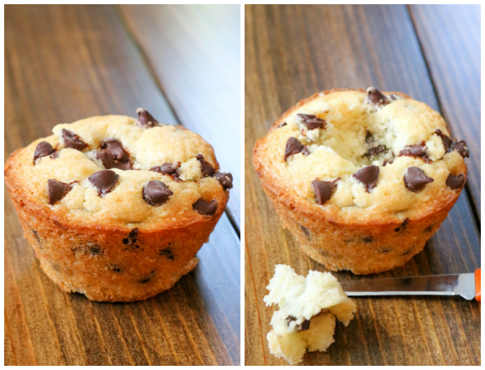 Chocolate Chip Cream Cheese Stuffed Muffins