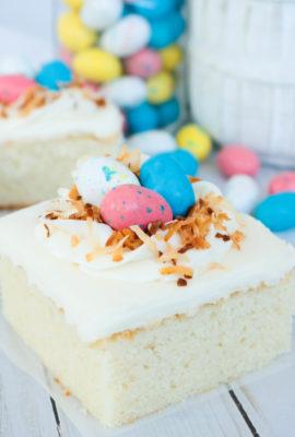 Bird's Nest White Sheet Cake