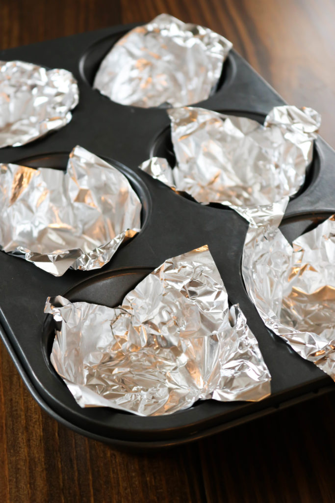 Muffin Tin with Foil Liners