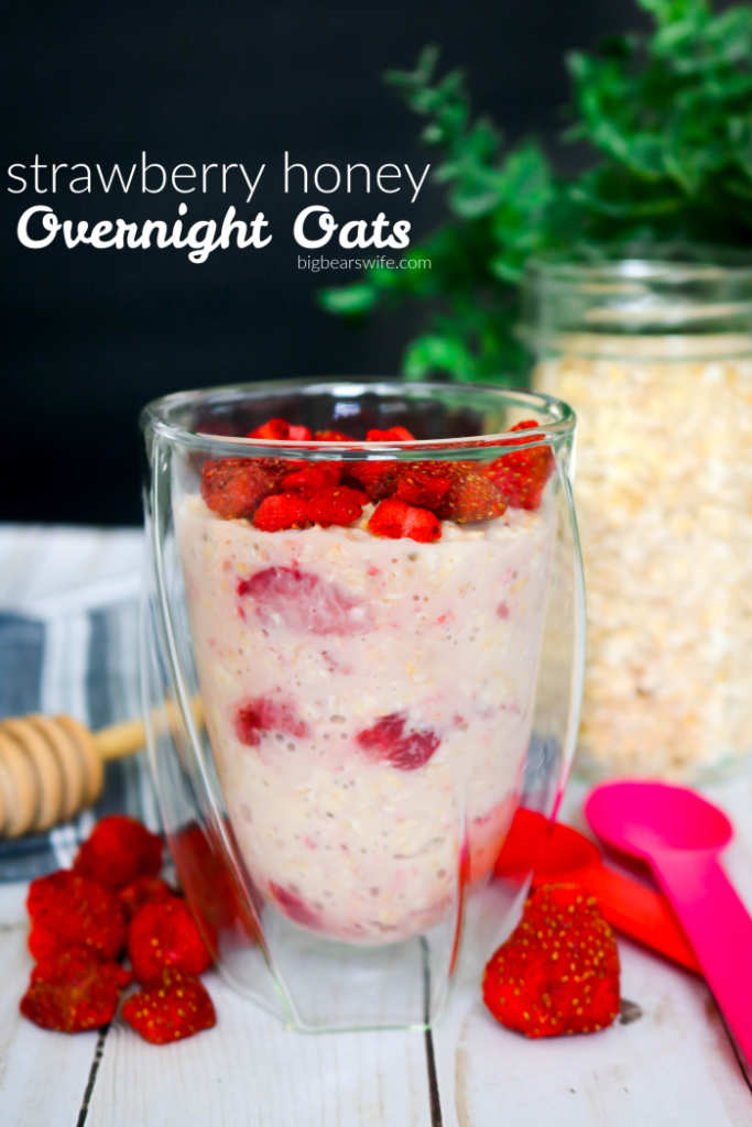 strawberry honey Overnight oats