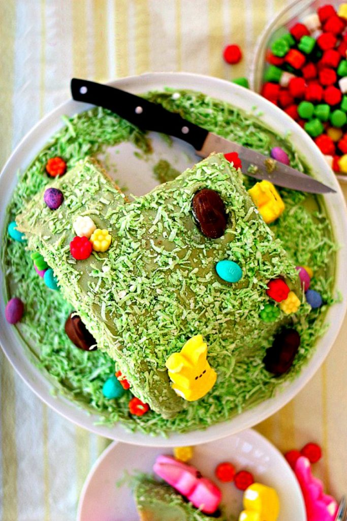 easter bunny hill cake