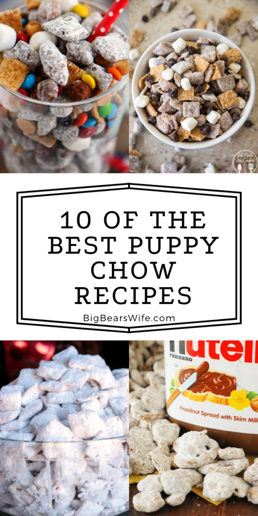 Puppy Chow Snack Mix (or Muddy Muddies) is a popular sweet treat that can be made for all types of occasions! The flavor possibilities are endless and I've found 10 of the Best Puppy Chow Recipes for you to try!!