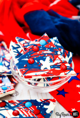 Fourth of July Bark with Sugar Stars
