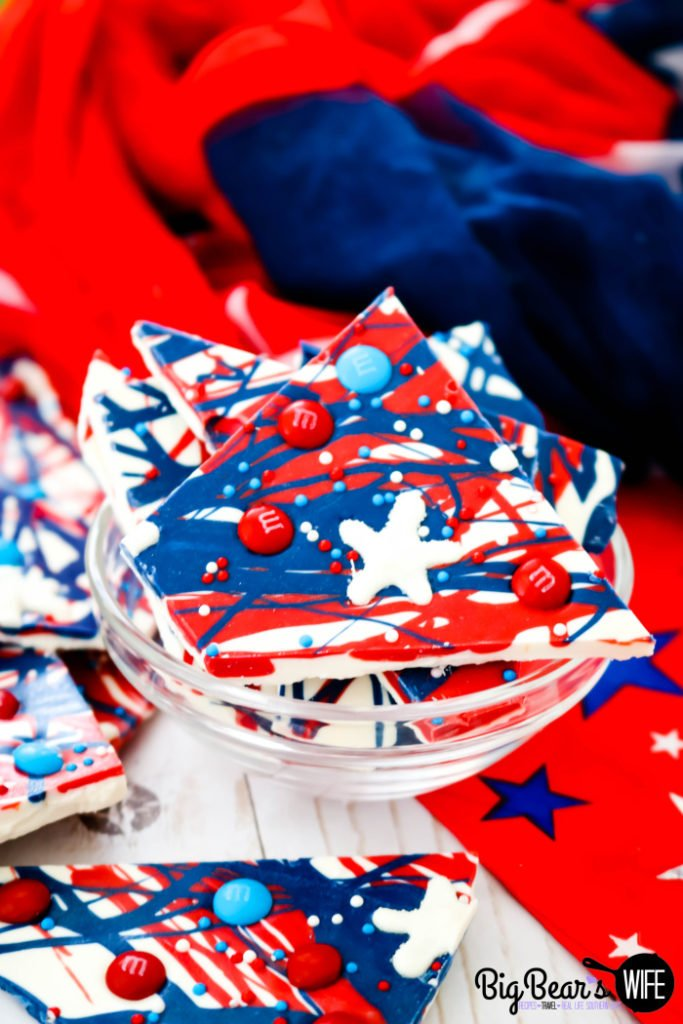 Fourth of July Bark with Sugar Stars