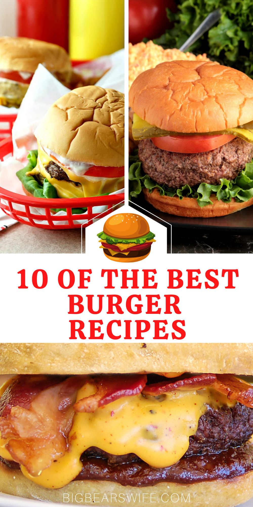 Warm weather is here which means it's time to enjoy the back patio, start up the grill and spend some quality family time outside in the evenings! I've found 10 of the Best Burger Recipes for y'all to try that would be perfect for lunch or dinner.   via @bigbearswife