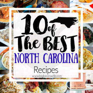 10 of the Best North Carolina Recipes - BBQ, Krispy Kreme, Cheerwine and Fresh Seafood top the list when it comes to North Carolina Food and I've got 10 of the Best North Carolina Recipes to share with y'all to showcase one of my favorite states!