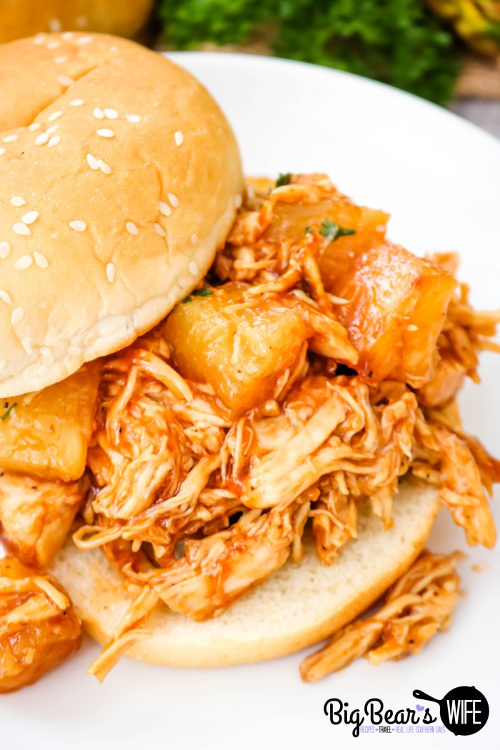 BBQ Pineapple Chicken Sandwiches