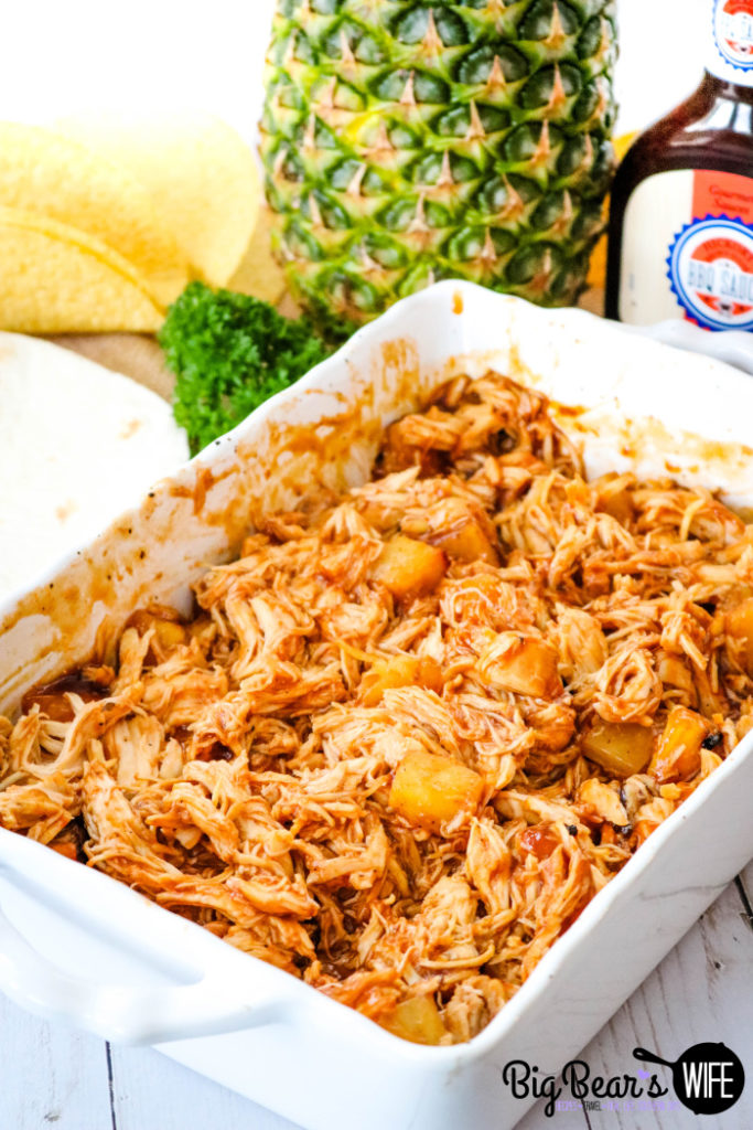 Shredded BBQ Chicken and Pineapples