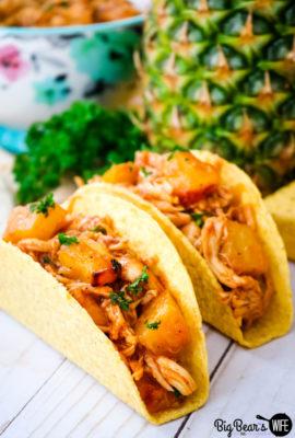 BBQ Pineapple Chicken Tacos