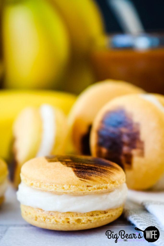 Bananas Foster Macarons