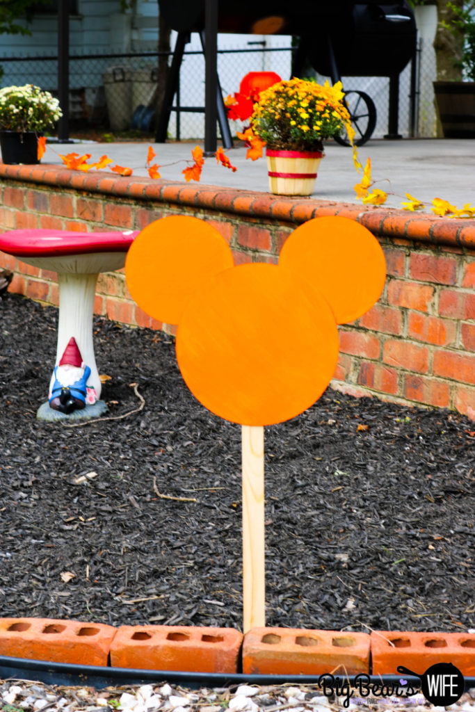 Homemade Mickey Mouse Sign