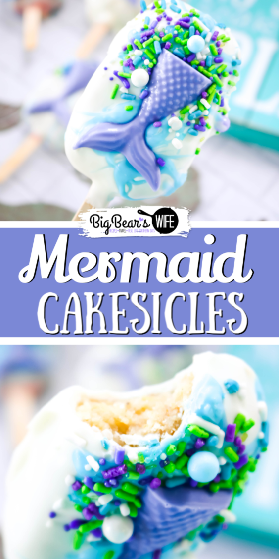Mermaid Cakesicles - Magical cakesicles from under the sea, if you love Mermaids you're going to flip tails over these Mermaid Cakesicles!