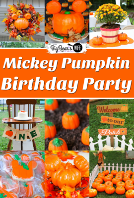 Mickey Pumpkin Birthday Party