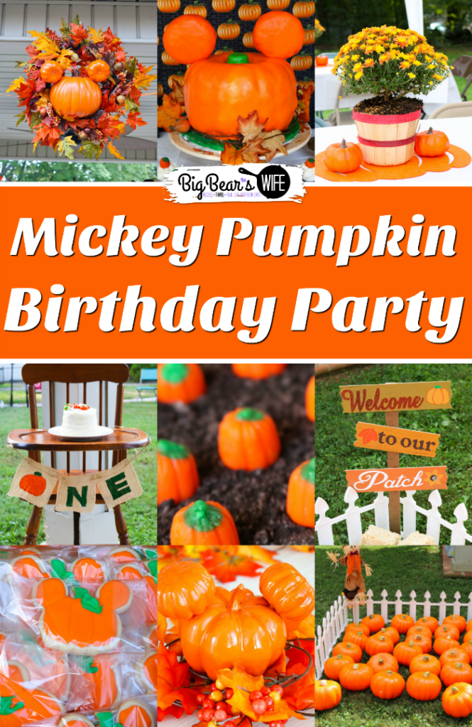 Mickey Pumpkin Birthday Party