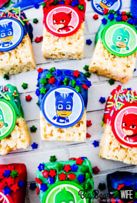 PJ Masks Marshmallow Treats