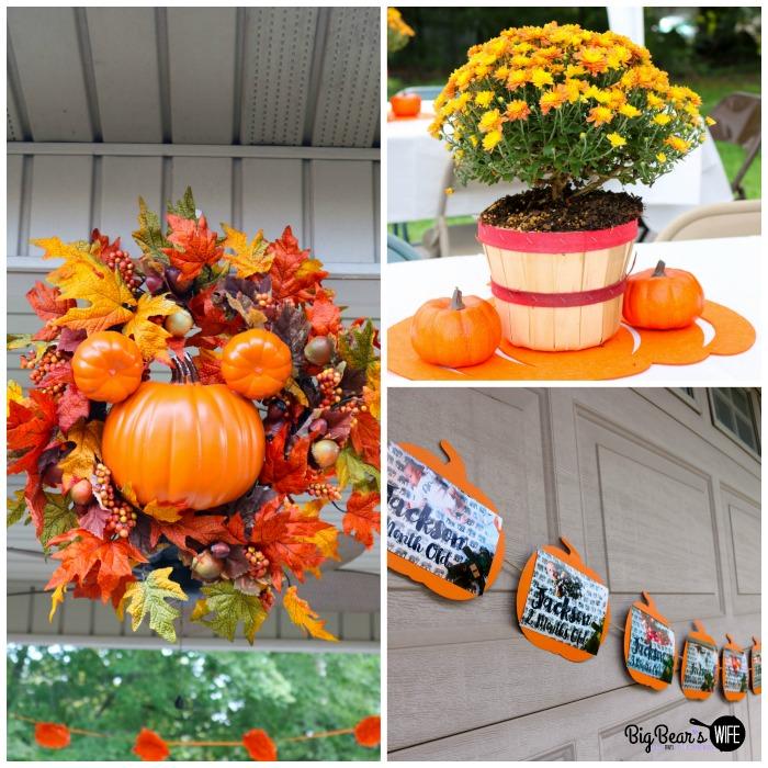 Mickey Pumpkin Birthday Party Ideas