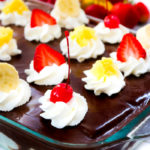 Banana Split Eclair Dessert with Banana Whipped Cream #SummerDessertWeek