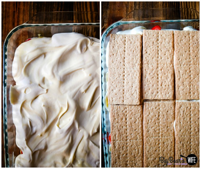 Layering a Banana Split Eclair Dessert with Banana Whipped Cream