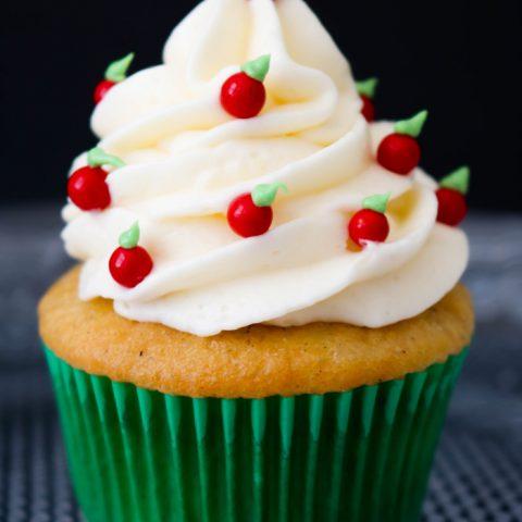 Caramel Apple Back to School Cupcakes