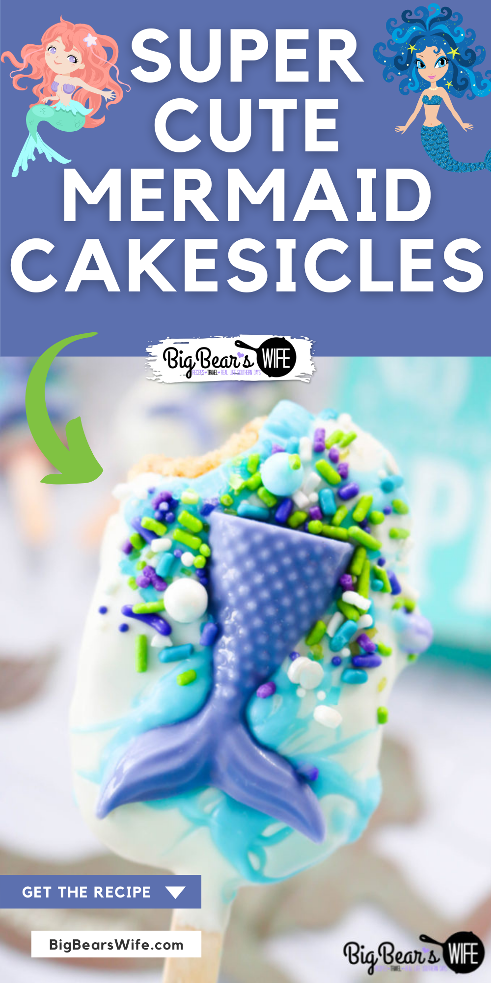 Magical cakesicles from under the sea, if you love Mermaids you're going to flip tails over these Mermaid Cakesicles!    via @bigbearswife