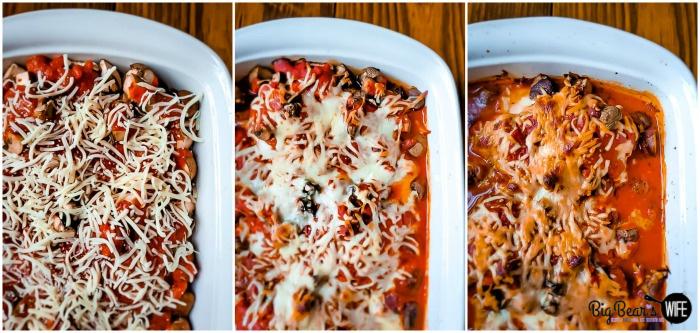Baked Pizza Mozzarella Stuffed Chicken