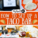 How to set up a taco bar for a party