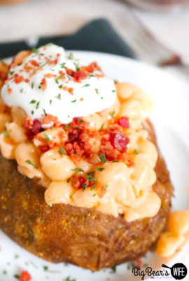 Loaded Mac and Cheese Stuffed Baked Potatoes