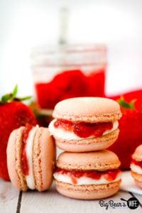 Strawberry & Cream Macarons