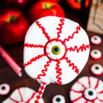 Bloodshot Eyeball Apple Slices #HalloweenTreatsWeek