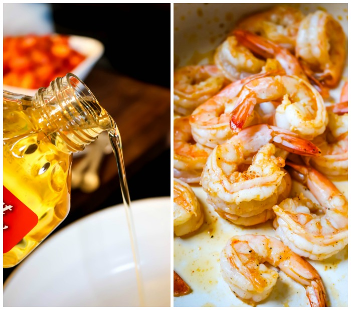 Cooking Shrimp in Cajun Seasoning and Mazola Corn Oil