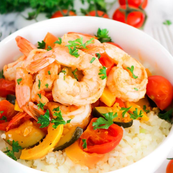Cajun Shrimp Cauliflower Rice Bowls