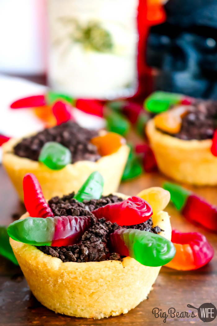 Gummy Worm Dirt Cookie Cups