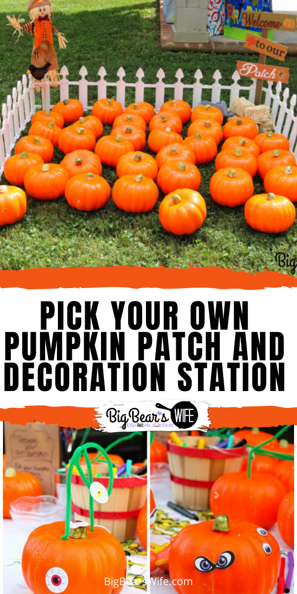 Pick Your Own Pumpkin Party Game - Mickey Mouse Pumpkin Cake - from Pumpkin Smash Cake from - If you're thinking about throwing a Mickey Pumpkin Birthday Party, I've got all kinds of ideas to point you in the right direction! I've got Mickey Pumpkin Birthday Party decorations, crafts and cake ideas for you! via @bigbearswife