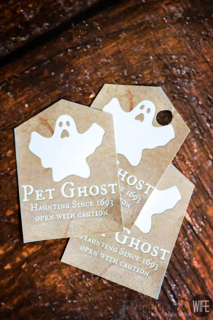 Pet Ghost Printable Tags