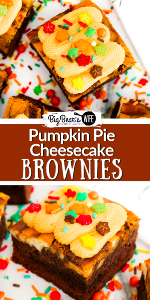 Pumpkin Pie Cheesecake Brownies