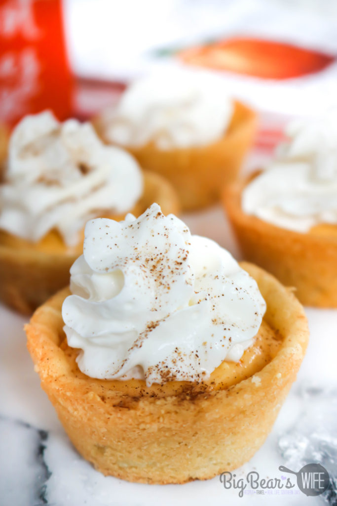 Pumpkin Pie Cheesecake Cookie Cups