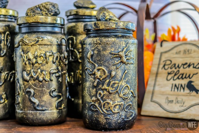 DIY Potion Bottles from Old Jars
