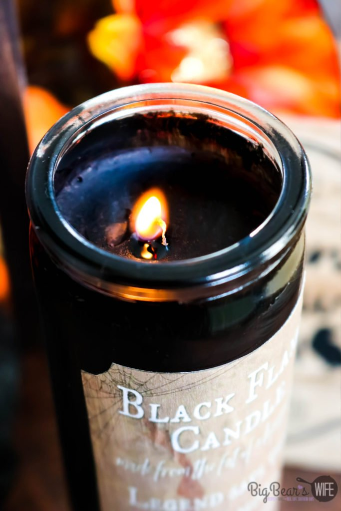 Dollar Store DIY Black Flame Candle