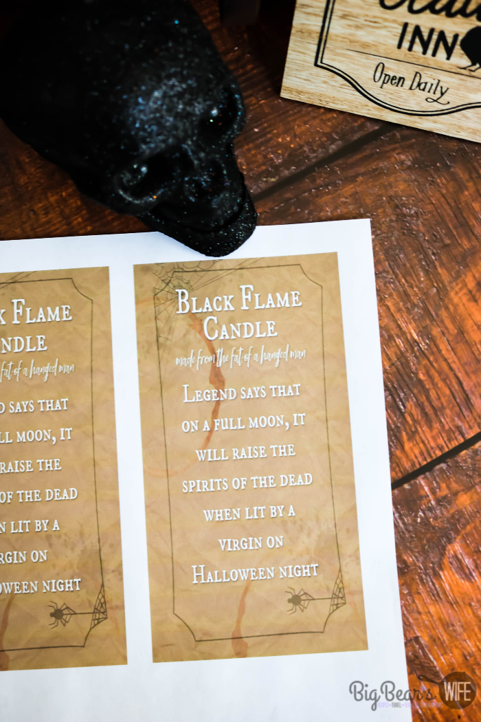 Printable for Dollar Store DIY Black Flame Candle