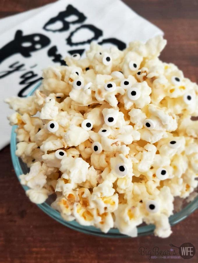 Ghost Popcorn - White Chocolate Popcorn